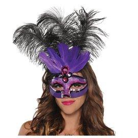 Purple Temptation Feather Mask