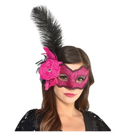 Intrigue Feather Mask Pink