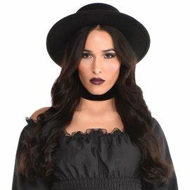 Wide Brim Hat Black