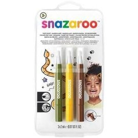 Jungle Brush Pens 3ct - Snazaroo