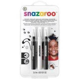 Monochrome Brush Pens 3ct - Snazaroo