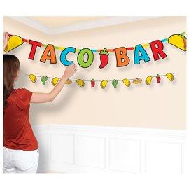 Taco Jumbo Letter Banner Combo