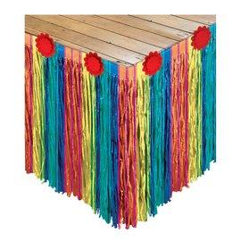 Fiesta Striped Paper Tableskirt