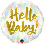 """18"""" Hello Baby Foil Ballloon"""
