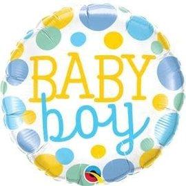 "18"" Baby Boy Dots Foil Balloon"