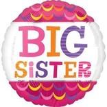 "18"" Big Sister Scallops Foil Balloon"