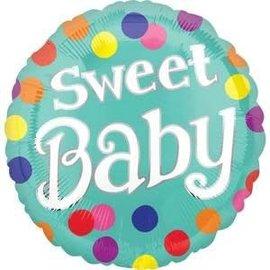 "18"" Sweet Baby Dots Foil Balloon"