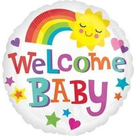 """18"""" Welcome Baby Bright/Bold"""