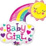"""30"""" Baby Girl Happy Sun"""