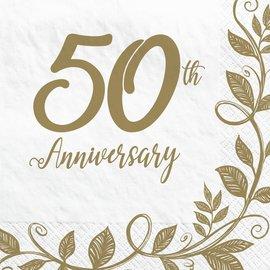 Happy 50th Anniversary Luncheon Napkins, 16ct