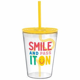 Smile Tumbler with Silly Straw
