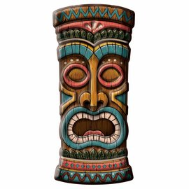 Tiki Head Vac Form Decoration
