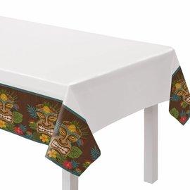 Vintage Tiki Plastic Table Cover