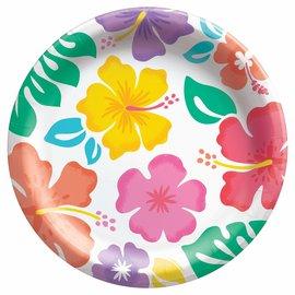 "Summer Hibiscus 8 1/2"" Round Plates , 50ct"