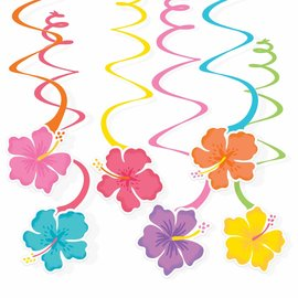 Summer Hibiscus Value Pack Swirl Decoration