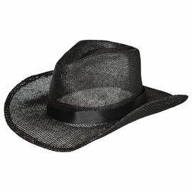 Straw Cowboy Hat - Black