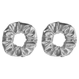 Silver Scrunchies - 2ct