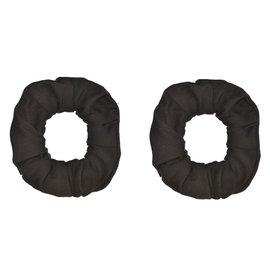 Black Scrunchies - 2ct