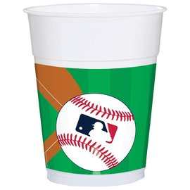 Major League Baseball Plastic Cups, 16 oz. -25ct