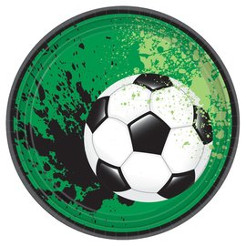 """Goal Getter Round Plates, 7"""" -18ct"""