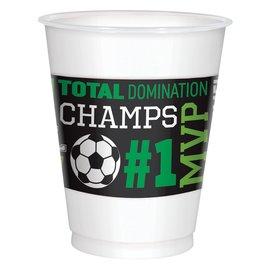 Goal Getter Plastic Cups, 16 oz. -8ct