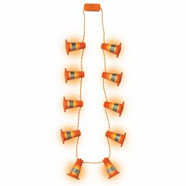Over the Hill Construction Light Up Necklace