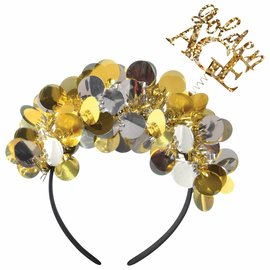Over the Hill Golden Age Tinsel Headband