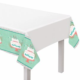 Happy Cake Day Plastic Table Cover