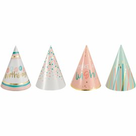 Happy Cake Day Mini Cone Hats -12ct