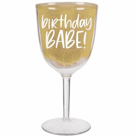 Happy Cake Day Wine Goblet