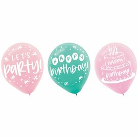 Happy Cake Day Latex Balloons -15ct