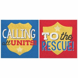 First Responders Beverage Napkins -16ct