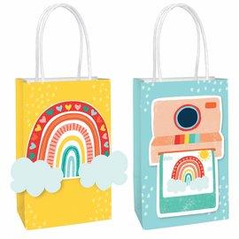 Retro Rainbow Create Your Own Bags -8ct
