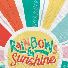 Retro Rainbow Luncheon Napkins -16ct