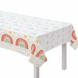 Retro Rainbow Plastic Table Cover