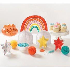 Retro Rainbow Table Decorating Kit