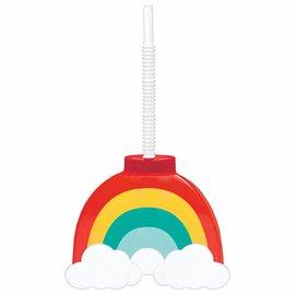 Retro Rainbow Sippy Cup