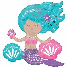 Shimmering Mermaid Air-Filled Sitter Balloon