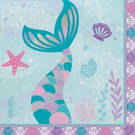 Shimmering Mermaids Luncheon Napkins -16ct