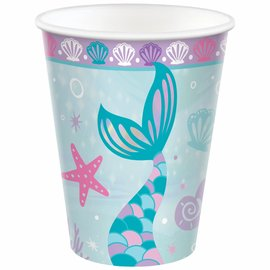 Shimmering Mermaids Cups, 9 oz. -8ct