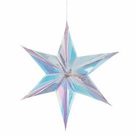 Luminous Iridescent Hanging Foil Star