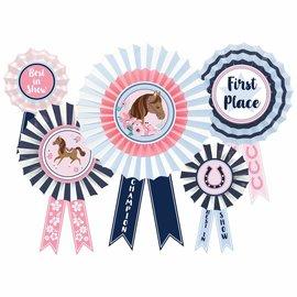 Saddle Up Hanging Fan Décor - Award Ribbons -5ct