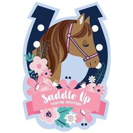 Saddle Up Postcard Invitations -8ct