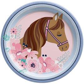 "Saddle Up 9"" Round Plate -8ct"