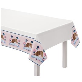 Saddle Up Plastic Table Cover