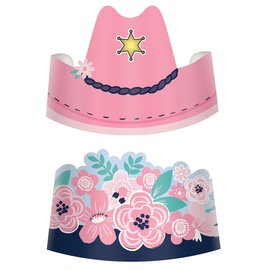 Saddle Up Paper Crowns -8ct
