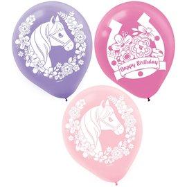 Saddle Up Latex Balloons -6ct