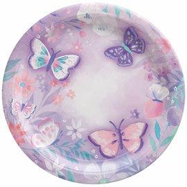 """Flutter 9"""" Round Plates -8ct"""