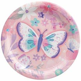 """Flutter 7"""" Round Plates -8ct"""