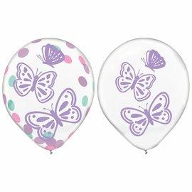 Flutter Latex Confetti Balloon -6ct